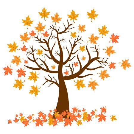 icône de feuille, symbole de conception de vecteur d'icône de saison d'automne