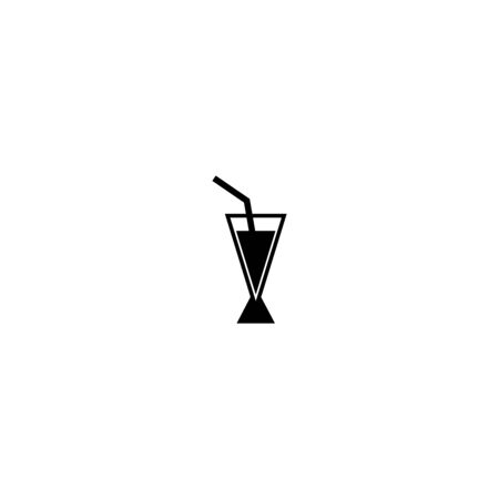 drink cup and wine bottle icon vector design symbol Ilustrace