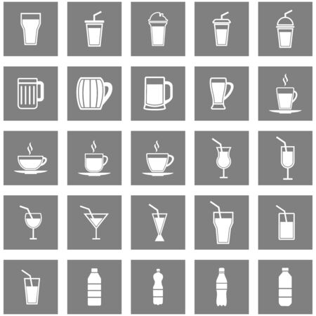 drink cup and wine bottle icon vector design symbol
