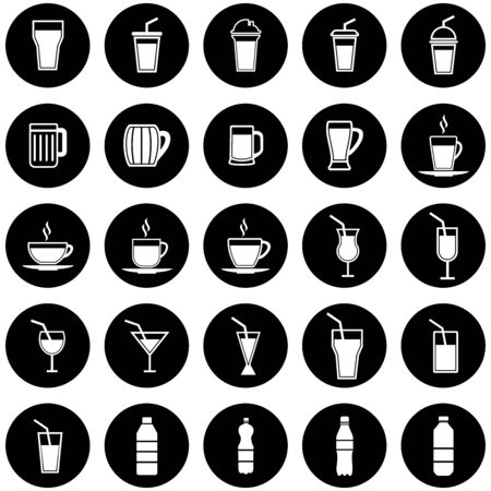 drink cup and bottle icon vector design symbol
