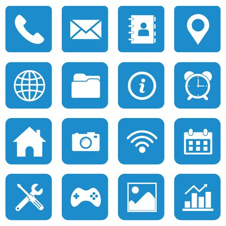 web icon set vector design symbol Ilustracje wektorowe