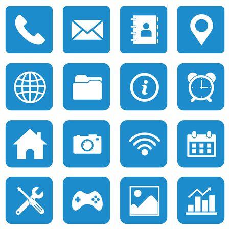 jeu d'icônes web symbole de conception de vecteur Vecteurs