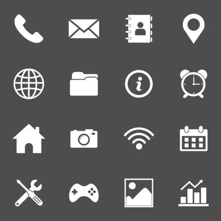 web icon set vector design symbol Vektorové ilustrace