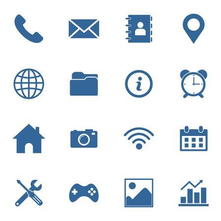 jeu d'icônes web symbole de conception de vecteur