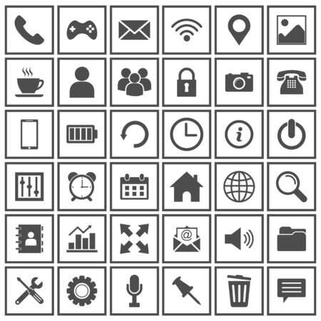 web icon set vector design symbol Vector Illustration