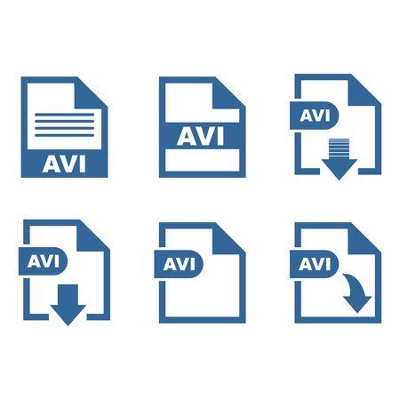 AVI file format icon vector design symbol 스톡 콘텐츠 - 140763188