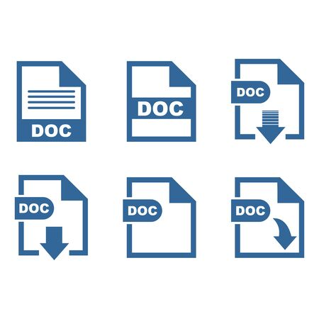 DOC file format icon vector design symbol 스톡 콘텐츠 - 140763193