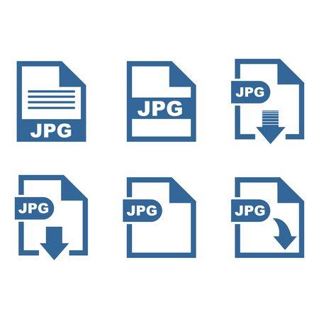 JPG file format icon vector design symbol 스톡 콘텐츠 - 140763192