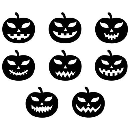 pumpkin face icon vector design symbol Vector Illustration