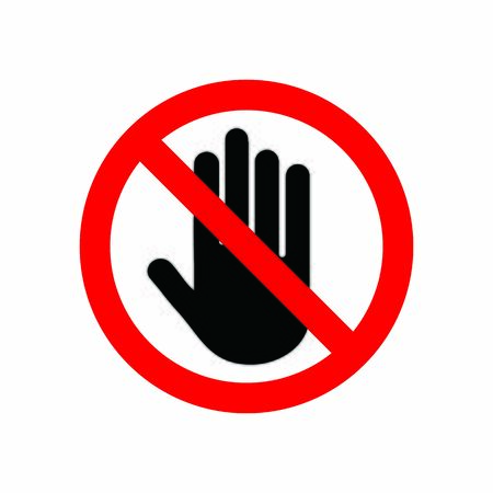 hand stop sign icon vector design symbol