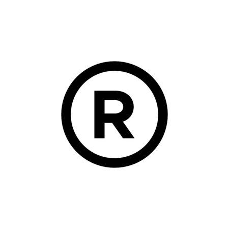 register mark icon vector design symbol