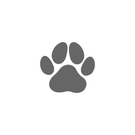 paw print icon vector design symbol of animal footprint Illustration