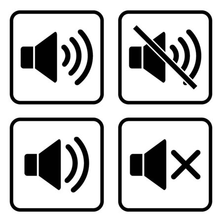 speaker icon vector design symbol Illustration