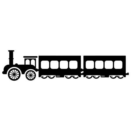 train railway icon vector design symbol Vector Illustration