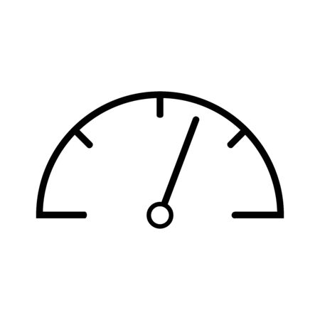 speedometer icon vector design symbol of speed for car and motorcycle