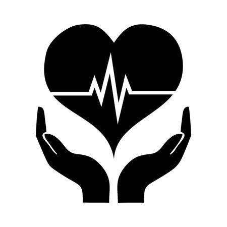 hand holding heart icon vector design symbol Vector Illustration