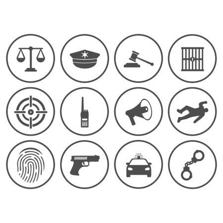 police, icône, vecteur, conception, symbole