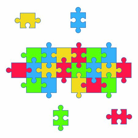 puzzle icon vector design symbol