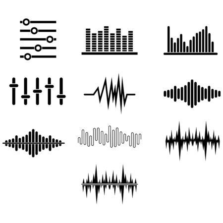 sound wave icon vector design symbol