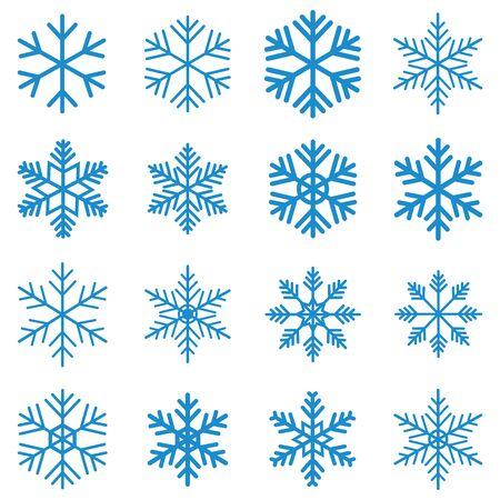 Schneeflocke-Symbol Vektor-Design-Symbol