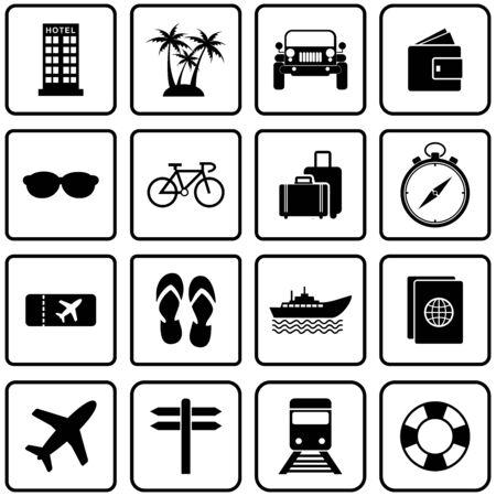 tour et voyage icône symbole de conception de vecteur Vecteurs