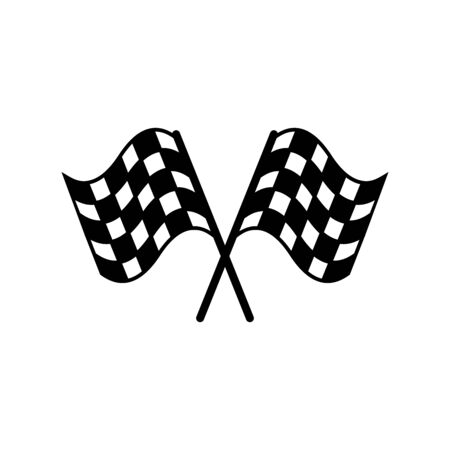 racing flag icon design symbol