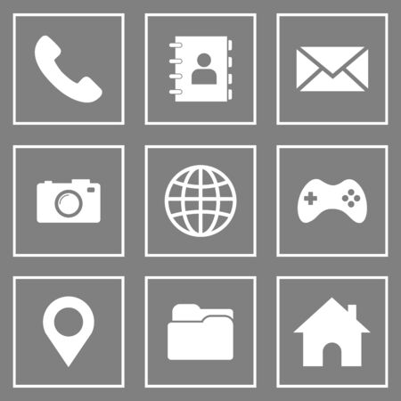 website icon vector symbol for contact us