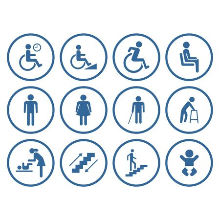 design vector public people facilities icon symbol accessibility