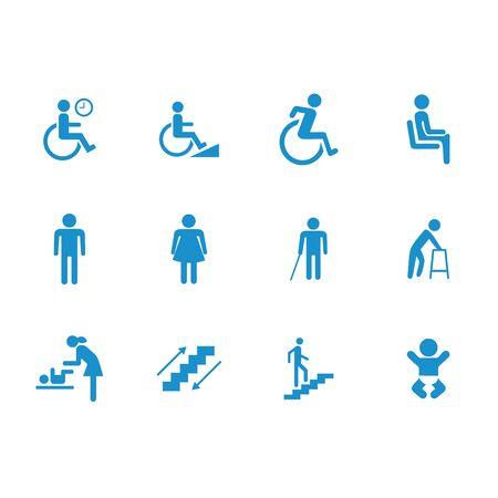 design vector public people facilities icon symbol accessibility