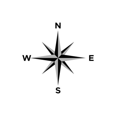 boussole, icône, vecteur, conception, symbole