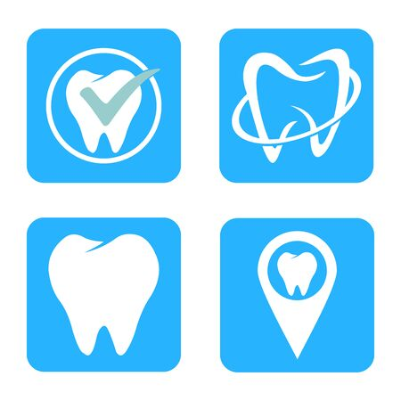dental icon logo vector design symbol