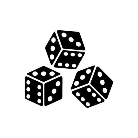 dice icon vector design symbol