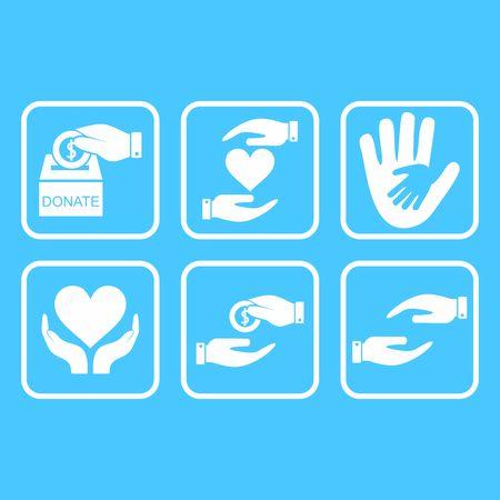 donate and charity icon vector design symbol Vettoriali