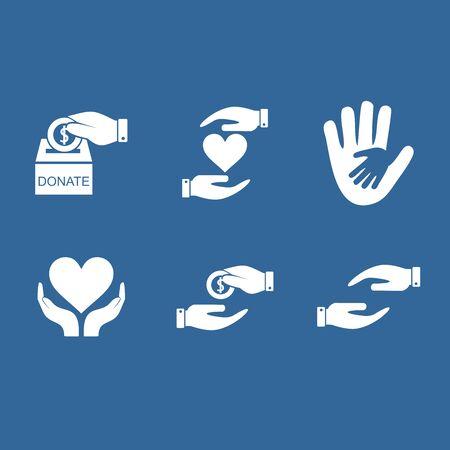 donate and charity icon vector design symbol Illustration
