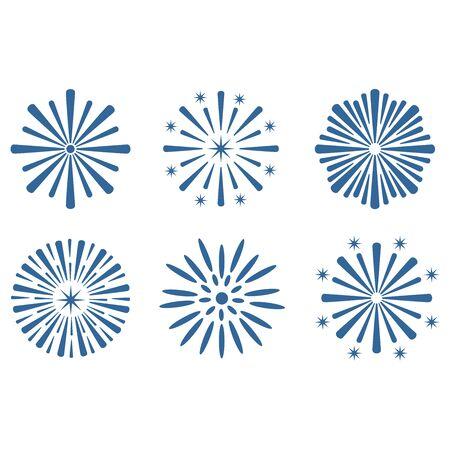 firework icon vector design symbol