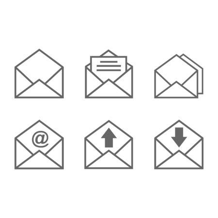 Icono de mensaje de correo, símbolo de diseño de vector de icono de mensaje nuevo