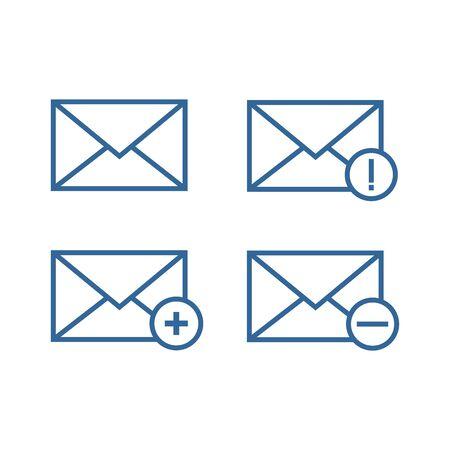 mail message icon, new message icon vector design symbol