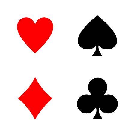 playing card icon vector design symbol of casino Ilustración de vector