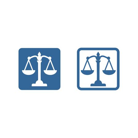 scale icon vector design symbol of legal,justice