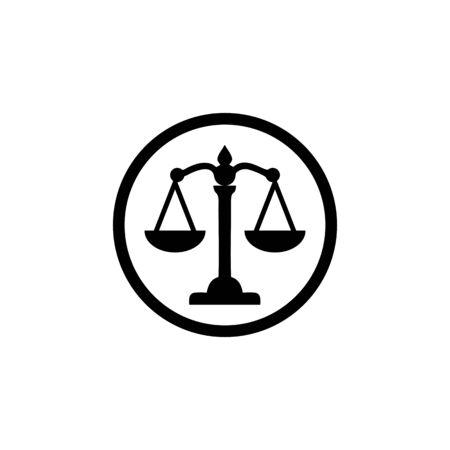 scale icon vector design symbol of legal,justice