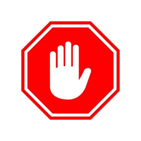 stop sign icon vector design symbol Vettoriali