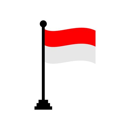 Indonesia flags icon vector design symbol