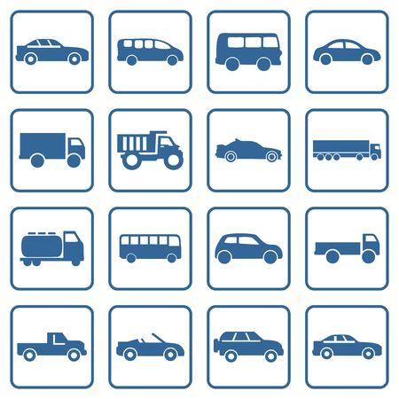 car icon, bus, ambulance icon vector design symbol