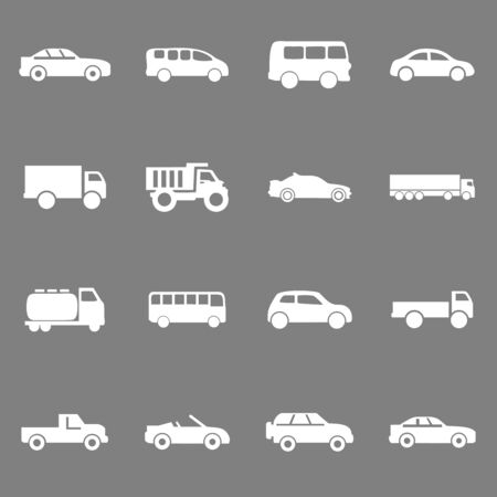 car icon, bus, ambulance icon vector design symbol Ilustracja
