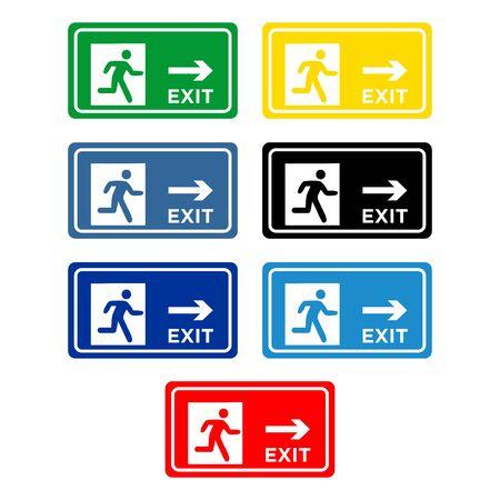 évacuations signe icône vecteur conception symbole