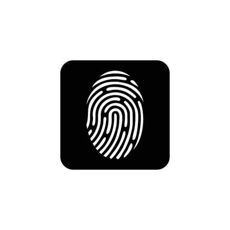 fingerprint icon vector design symbol