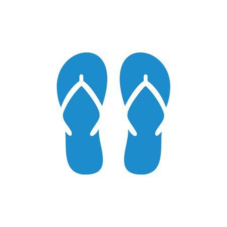slipper icon vector design symbol Ilustración de vector