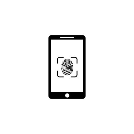 touch id and face id icon vector design symbol fingerprint
