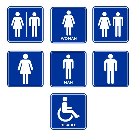 vector toilet sign symbol icon design
