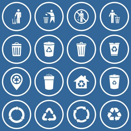 trash can icon vector design symbol